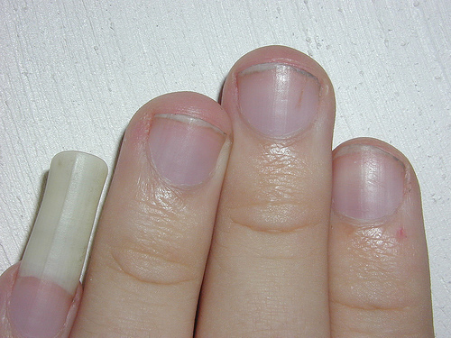 a super long pinky nail